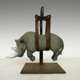 Rhino 2011 mini bronzo  27x20x28
