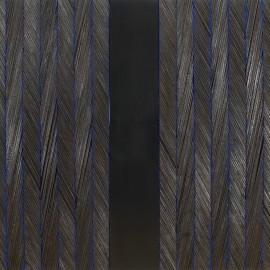 François CALVAT (version II) Bois brulé - tôle émaillée - 167x180 cm - 2013