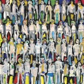 David THELIM - Série Les répétitifs - gouache sur Canson - 2014