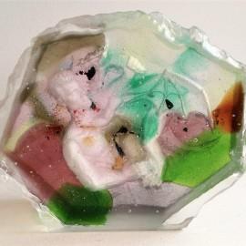 Marc FRAISON - Sculpture verre - Piece Unique - 18x21x7 cm - 2015