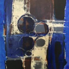 Marha Léonor - Sans titre - Série Rencontres IV- Technique mixte sur toile - 50x50 cm - 2016