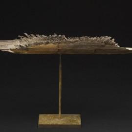 Barque Vannerie 3 - longueur 40 cm - Bronze unique