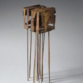 Guillaume Couffignal - Cage - bronze unique- 50x15 cm - 2016