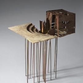 Théatre Cage - 61x50x40 cm - Bronze unique