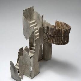 Théatre  Vannerie 2 - 45x40x40 cm - Bronze unique