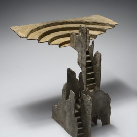 Théatre plateau - 45x45x40 cm - bronze unique