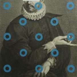 Acrylique sur gravure XVIII°